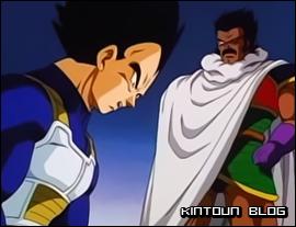 Quando descobre a verdade sobre Broly, Vegeta se desespera.